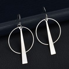 Silver Pirate Mark FOXI YOUTH Double Side Barbell Screw Back Stainless Steel Earrings