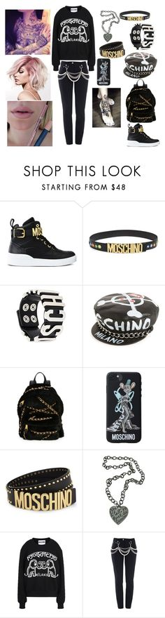 """""""Moschino"""" by loa-chan ❤ liked on Polyvore featuring Moschino"""