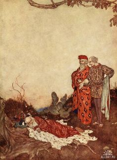 Shakespeare's comedy of The tempest (1915) by Edmund Dulac
