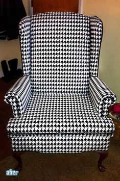 """Cool chair!  Would be neat in an """"Alabama"""" Football themed room. Put some crimson pillows on it and there you go!!  Roll Tide!"""
