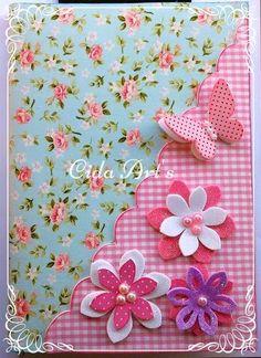 caderno emborrachado e.v.a eva borboletas caderno decorado em eva - by cida Arts