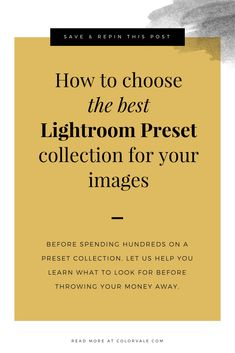 How to choose the best Lightroom Preset Collection for your images