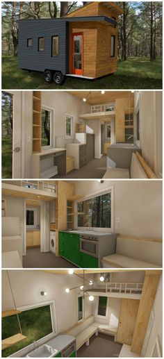 Tiny house plans released for the model STEM-N-LEAF that offers a spacious floor plan and a modern exterior