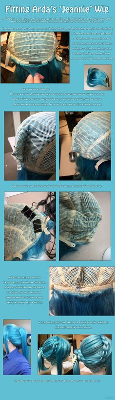 Fitting Arda's Jeannie Wig Tutorial by PrettyKitty on deviantART: