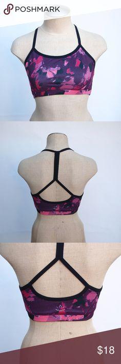 beyond yoga purple & pink sports bra pink and purple print t-back sports bra from beyond yoga. in great condition, worn once, size small Beyond Yoga Intimates & Sleepwear Bras