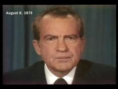 Aug. 8, 1974: President Richard Nixon announced in a television address to the nation that he would resign from office. He was the first American president in history to do so.