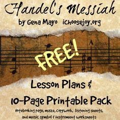 Free Handel's Messiah Printable Pack