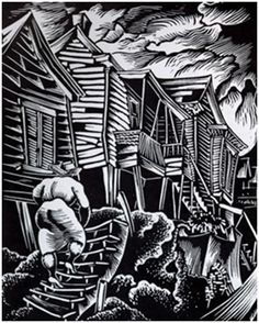 """""""""""Returning Home"""" by Hale Woodruff  Exhibited at the Hall of Negro Life  Texas Centennial Exposition, Dallas, 1936""""  This exposition was the first major step forward in the inclusion of Afro-American culture in such exhibitions."""