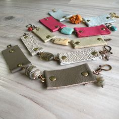 Leather Cuff Bracelets - Upcycled Leather