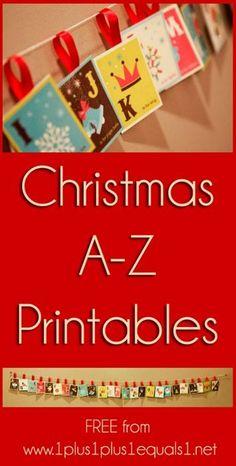 Christmas Alphabet Printable Set & eBook {free}