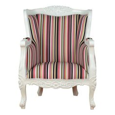 Fabulous & Baroque: LTD Aveline Chair White Pink, at 28% off!