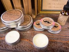 Dapper dads need mustache wax! From The Rex Apothecary