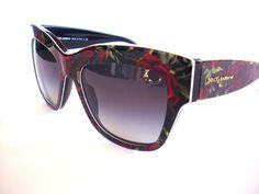 Dolce and Gabbana Sunglasses DG 4231 Black Floral 2938/8G Authentic #DolceAndGabbana #Designer