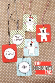 Free printable Christmas tags -so cute!