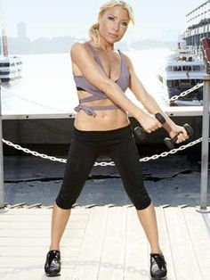 How does Madonna get in shape for the holidays? She has exercise guru Tracy Anderson on speed dial. Here, the superstar trainer reveals the slim-down plan she's saved for celebs - until now. Tracy Anderson Arms, Exercise Moves, Celebrity Bodies, Celebrity Workout, How To Slim Down, Celebs, Celebrities, Get In Shape, Superstar