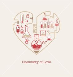 Chemistry of love vector 1836118 - by ma_rish on VectorStock®