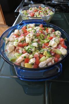 Shrimp Ceviche by Barb 4 pounds large raw tiger shrimp Juice of 6 limes Juice of 4 lemons 4 vine ripened tomatoes, seeded and chopped 1 small red onion. Fish Recipes, Seafood Recipes, Mexican Food Recipes, New Recipes, Cooking Recipes, Healthy Recipes, Ethnic Recipes, Mexican Desserts, Freezer Recipes