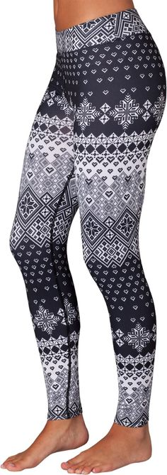 The women's Snow Angel Slimline Flatter-Fit long underwear leggings. Perfect for ski season! Leggings Mode, Sports Leggings, Leggings Fashion, Printed Leggings, Cheap Leggings, Gothic Leggings, Latest Fashion For Women, Womens Fashion, Long Underwear