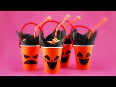 Halloween Party Cup * DIY Craft for Kids & Adult *