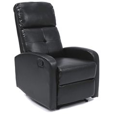 Best Choice Products Furniture Home Theater PU Leather Recliner Club Chair Lounger- Black