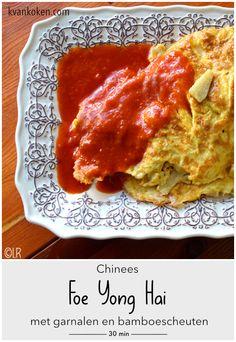 Foe Yong Hai met garnalen en bamboescheuten – De K van Koken Lasagna, Food And Drink, Pasta, Ethnic Recipes, Lasagne, Pasta Recipes, Pasta Dishes