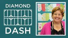 Missouri Star Quilt Company - Diamond Dash Quilt Tutorial.