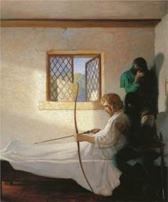 N.C. Wyeth - The Passing of Robin Hood
