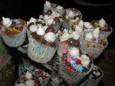 Muffins decorado por niños e fiesta de cocina!