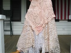 Bohemian Lace Skirt Made in the USA LXL by ArletteMichelle on Etsy, $168.00