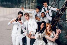 Shadowhunters cast Matt Daddario with Dominic Sherwood, Emeraude with Kat, Harry, Isaiah and Alberto Twitter @DomSherwoodBR & @DomSherwoodNews