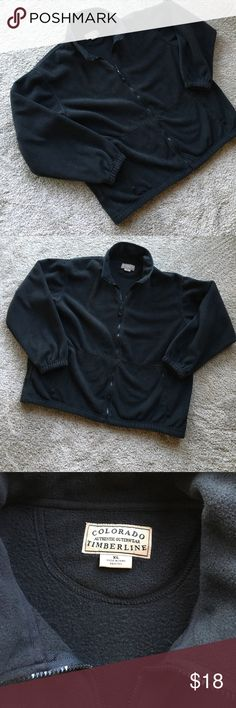 Men's Colorado Timberline Black Fleece with side zip pocket. Great Quality. Worn few times♠️Taking off Posh after party. Colorado Timberline Jackets & Coats