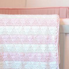 Hækleopskrift: Isbjerg Baby tæppe