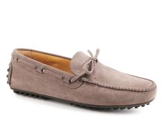 Car Shoe mens driving moccasins grey Suede leather - Italian Boutique €196