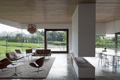 Divided by a stunning modern fire place