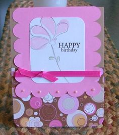 Happy Birthday (Awash with Flowers Stampin' Up)