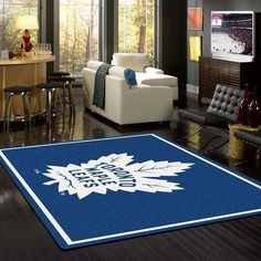 Anglo Oriental Toronto Maple Leafs 54 x 78 Spirit Rug *** You can find more details by visiting the image link. Living Room Carpet, Rugs In Living Room, Living Room Designs, Room Rugs, Area Rugs, Sports Rug, Sports Teams, Toronto Maple Leafs, Rugs On Carpet