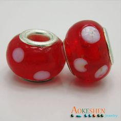 $1.39  Candy Red Lampwork Murano Glass Beads Handmade Charms Silver Core http://www.eozy.com/candy-red-lampwork-murano-glass-beads-handmade-charms-silver-core