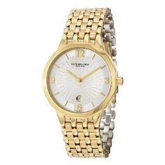 Stuhrling Original Men's Swiss Quartz Clasic Bracelet Watch by Stuhrling Original Gold Watch, Bracelet Watch, Watches For Men, Quartz, The Originals, Bracelets, Accessories, Mens Designer Watches, Bangles