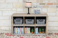 Natural Cubby Storage Console by DougAndCristyDesigns on Etsy