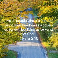 1 Peter Live as people who are free, not using your freedom as a cover-up for evil, but living as servants of God. Bible Verses Quotes, Bible Scriptures, Faith Quotes, Wisdom Quotes, Positive Affirmations Quotes, Affirmation Quotes, Bible Love, Spiritual Quotes, Religious Quotes
