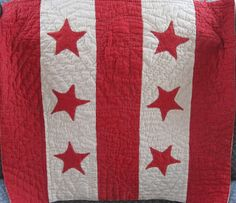 I SEW QUILTS: Red and White
