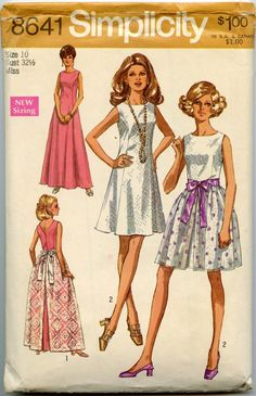 1960s Vintage Sewing Pattern Simplicity 8641 by GreyDogVintage, $12.00