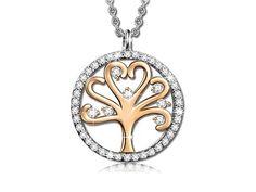 Pauline & Morgen - Collar Árbol de la vida, chapado en Oro rosa, bello talismán de la buena suerte o un bello regalo para alguien especial.
