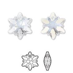 Blue Custom Year Stainless Steel Heart Bead Charm 12mm Crystal Rivoli