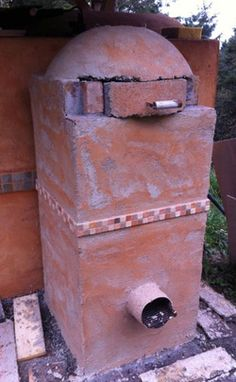 Rocket Stove Oven for bread or pizza Wood Oven, Wood Fired Oven, Wood Fired Pizza, Outdoor Oven, Outdoor Cooking, Outdoor Kitchens, Outdoor Rooms, Outdoor Living, Diy Pizza Oven