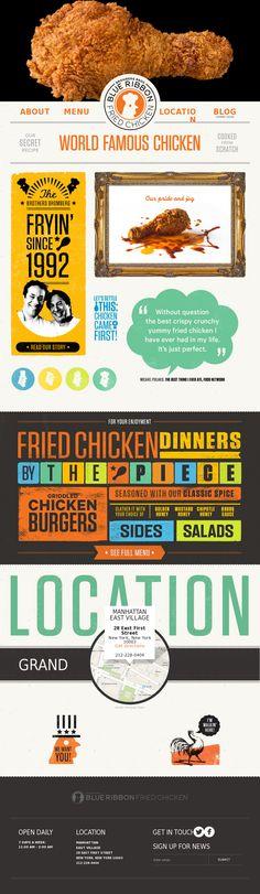 blueribbonfriedchicken.com #website #design #food #chicken