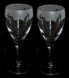 HARE Frieze Wine Glasses (Boxed Pair) *ANIMAL GIFT*: Amazon.co.uk: Kitchen & Home