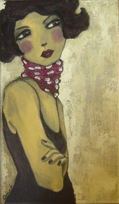 """""""ZaZa"""" -- by Carine Bouvard (b.1973, French)"""