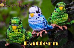 PDF Pattern - Amigurumi Budgie (crochet budgerigar) by SleepyToys on Etsy https://www.etsy.com/listing/170376334/pdf-pattern-amigurumi-budgie-crochet