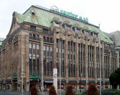 Warenhaus Leonhard Tietz, Heinrich-Heine-Allee, photo 1910, architekt Joseph Maria Olbrich (1867-1908).